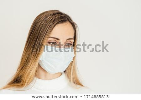 Mulher o que mentiras à frente coronavírus crise Foto stock © Kzenon