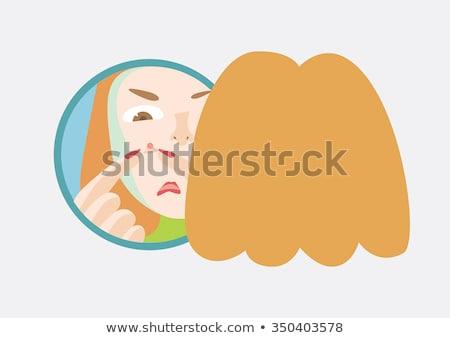 Squeezing pimple emoticon Stock photo © yayayoyo