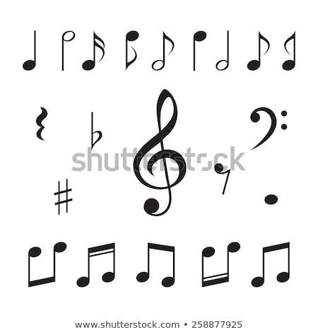 Muziek merkt web icons gebruiker interface ontwerp Stockfoto © ayaxmr