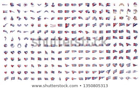 Grande coleção vetor bandeiras Cuba mundo Foto stock © butenkow