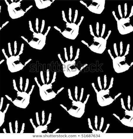 черный Отпечатки пальцев белый Гранж текстуры Сток-фото © evgeny89