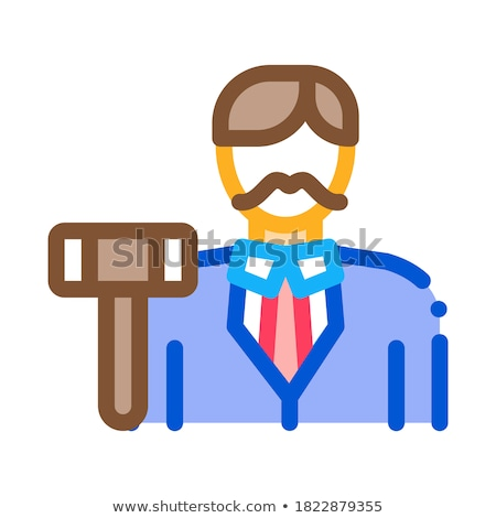 auction lead icon vector outline illustration Stock photo © pikepicture