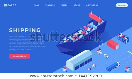 Bens serviços aterrissagem página companhia Foto stock © RAStudio