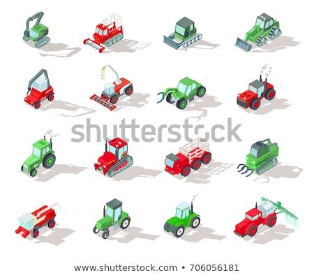 Agricole véhicules vecteur isométrique transport Photo stock © pikepicture