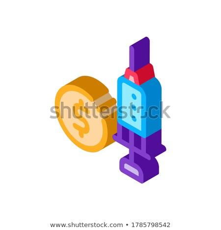 Costoso medici iniezione isometrica icona vettore Foto d'archivio © pikepicture
