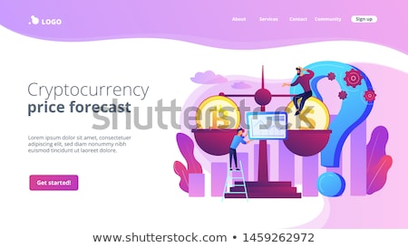 Bitcoin price prediction concept landing page Stock photo © RAStudio