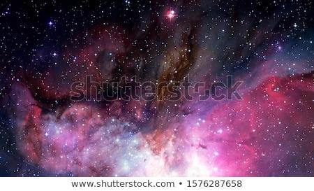 иллюстрация · спиральных · галактики · звездой · области · облака - Сток-фото © clearviewstock