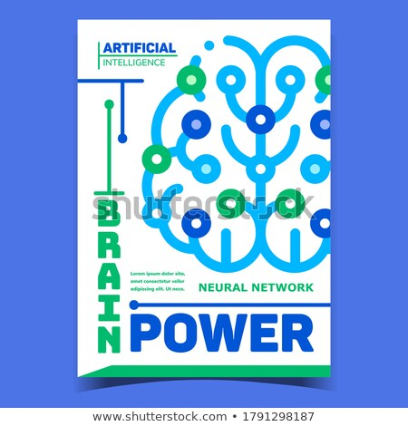 Digital Brain Power Promotional Banner Vector Stock photo © pikepicture