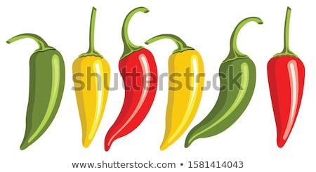 赤 緑 ハラペニョ ピーマン 販売 ストックフォト © bobkeenan