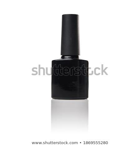 Vacío botella pastillas blanco contenedor etiqueta Foto stock © posterize