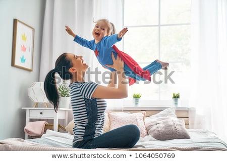 anne · oynama · çocuk · yalıtılmış · beyaz · oyuncaklar - stok fotoğraf © sapegina