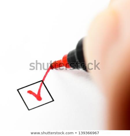 Cuestionario rojo pluma negocios libro reunión Foto stock © experimental
