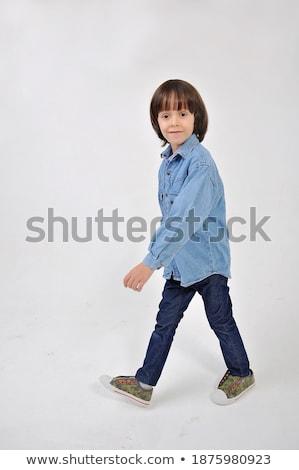 Striding boy Stock photo © lovleah