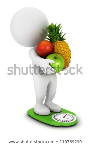3d small people - scales stock photo © AnatolyM