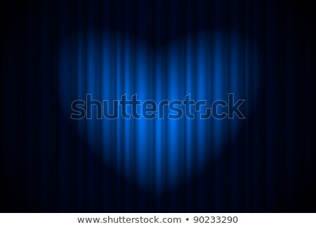 Stage with blue curtain and spotlight great, heart-shaped Stock photo © dvarg