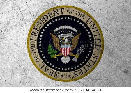 Grunge presidencial selar EUA velho vintage Foto stock © HypnoCreative