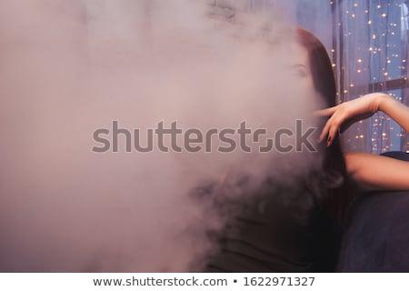 Mulher hookah silhueta backlight quadro mulher sexy Foto stock © dolgachov