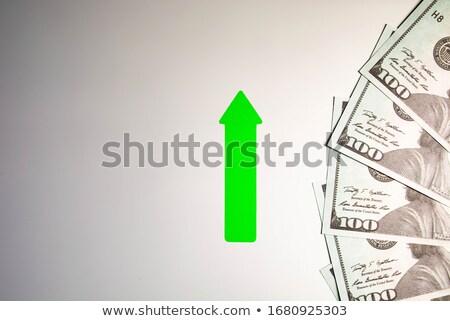 Dollár szimbólum felfelé nyilak iskolatábla írott Stock fotó © bbbar