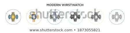 Macro ver ver cromo pulseira isolado Foto stock © AGorohov