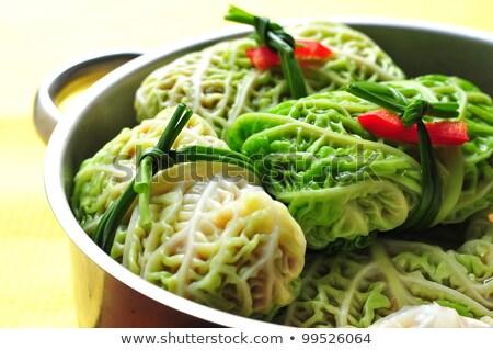 stuffed green cabbage Stock photo © M-studio