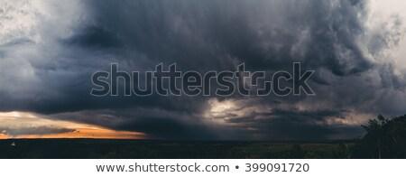 Large cumulus cloud - a panoramic photo Stock photo © pzaxe