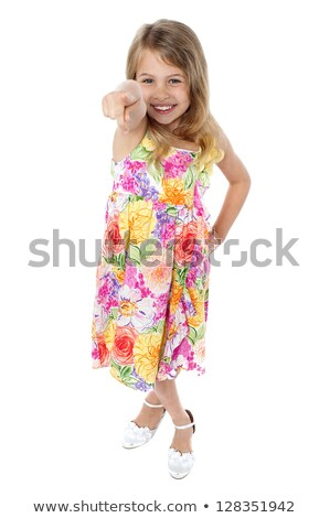 Aerial view of a trendy young girl child Stock photo © stockyimages