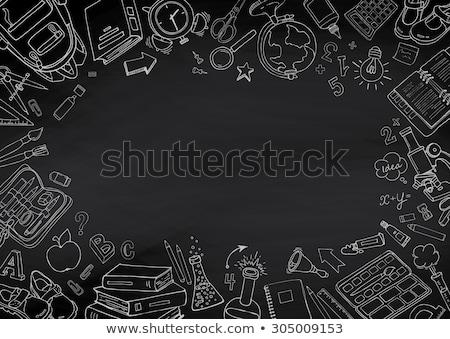 Vector school Blackboard illustratie zwarte terug naar school Stockfoto © orson
