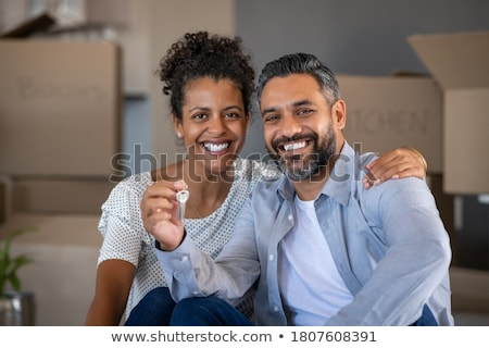 feliz · recém-casados · sorridente · retrato · noiva - foto stock © photography33
