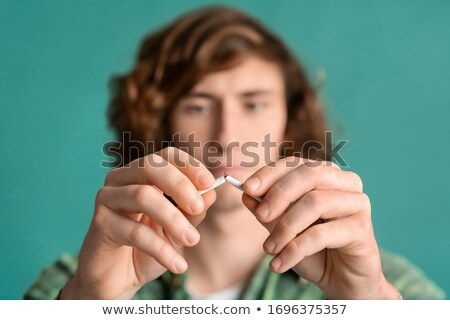 Teenagers smoking and breaking the habit Stock photo © photography33