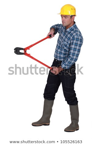 Labourer holding large clippers Stock photo © photography33