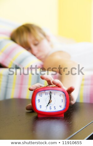 Blond woman snoozing Stock photo © photography33