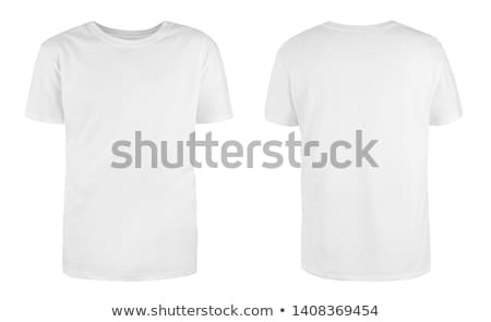 Stock fotó: Fehér · póló · izolált · sport · háttér · férfiak