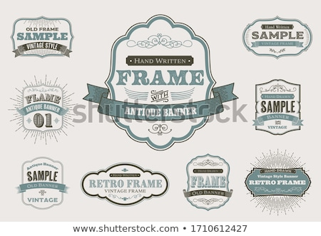 vintage frame stock photo © place4design