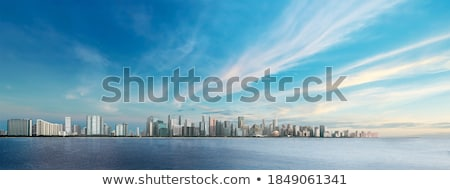 Város tenger éjszaka fotó égbolt víz Stock fotó © simas2