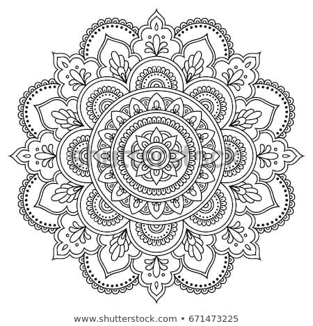 Mandala doodle belle soleil résumé fond Photo stock © zsooofija