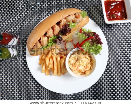 Shrimp sandwiches on the plate stock photo © moses