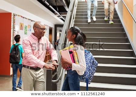 студентов · учитель · лестницы · человека · образование · девочек - Сток-фото © photography33