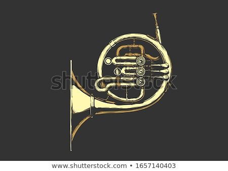 Stock photo: Old French Horn
