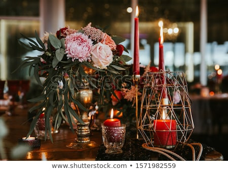элегантный · праздник · свечей · Рождества · черный · акриловый - Сток-фото © cobaltstock