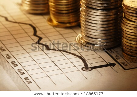 coins on graph paper stock photo © gemphoto
