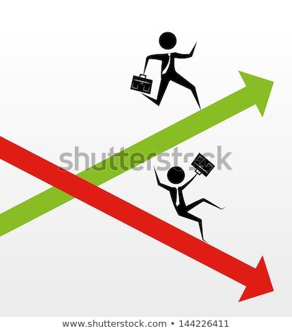 hanyatlás · üzletember · mozog · lefelé · nyíl · üzlet - stock fotó © 4designersart