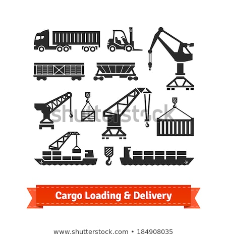 Stockfoto: Vrachtschip · bagage · business · industrie · vliegtuig · communicatie