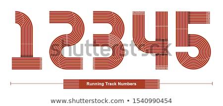 número · cinco · corrida · seguir · atletismo - foto stock © stevanovicigor