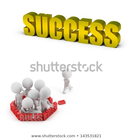 3d small people   rules and success stock photo © anatolym