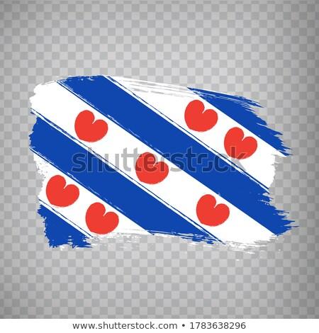 Zászló Hollandia fehér Európa ruha textil Stock fotó © joggi2002