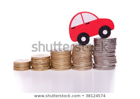 Red toy car on stack of euro coins Stock photo © sqback