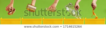 desperdiçar · separação · papel · plástico · vidro · lixo - foto stock © manfredxy