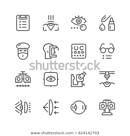 Vector icon eye sight test Stock photo © zzve