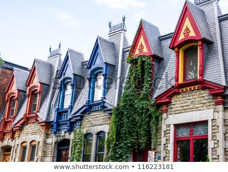Victorian houses in Montreal Stock photo © aladin66
