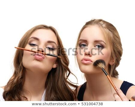 güzel · kadın · kozmetik · soyut · bulanık · kadın · sağlık - stok fotoğraf © chesterf